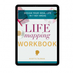 Happy Black Woman Life Mapping Workbook